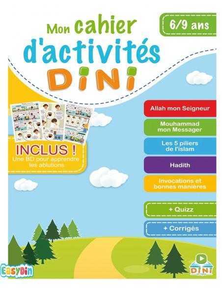 Cahier d'activité dini §à 9 ans