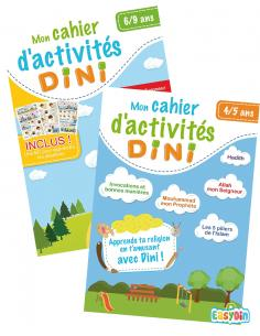 Pack Duo Cahier d'activités Dini 4-5 ans et 6-9 ans