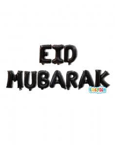 Ballons Lettre Eid Mubarak noir