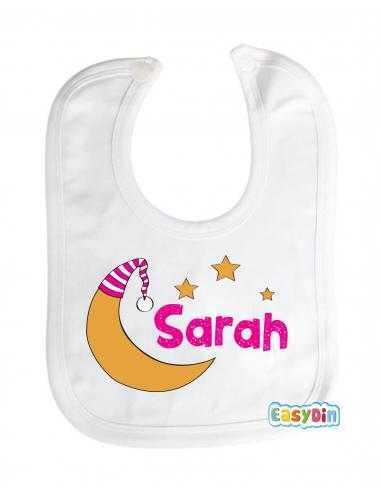 Bavoir personnalisé pour bébé fille