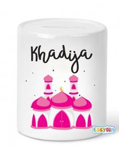 Tirelire mosquée personnalisée fille