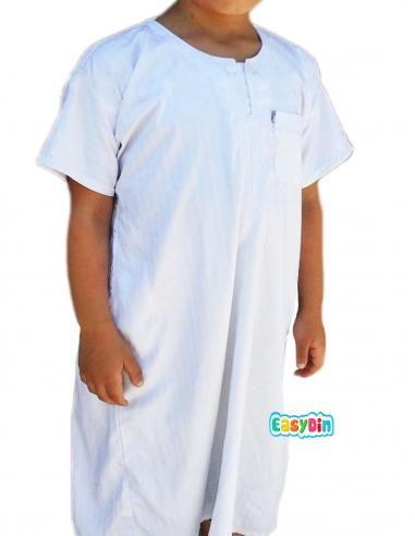Qamis enfant blanc manche courte - ikaf
