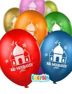 30 Ballons multicolores AID MOUBARAK