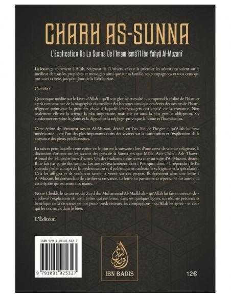 Charh As-Sunna - Édition Ibn Badis Explication de la sunna