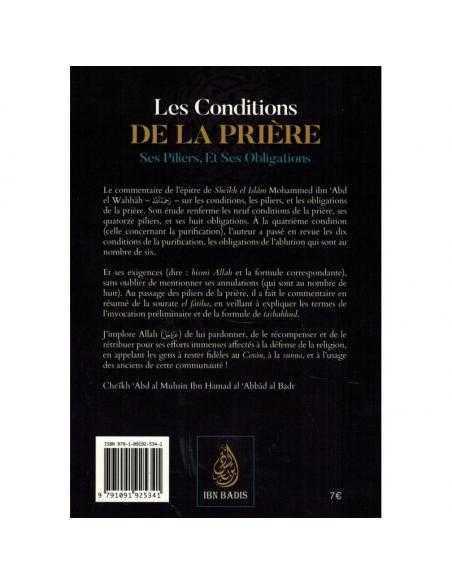 Les Conditions de la Prière, ses Piliers, et ses Obligations edition IBN BADIS
