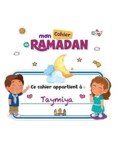 Mon cahier de Ramadan