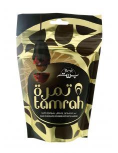 Dattes aux amandes enrobées de Chocolat Noir - Tamrah