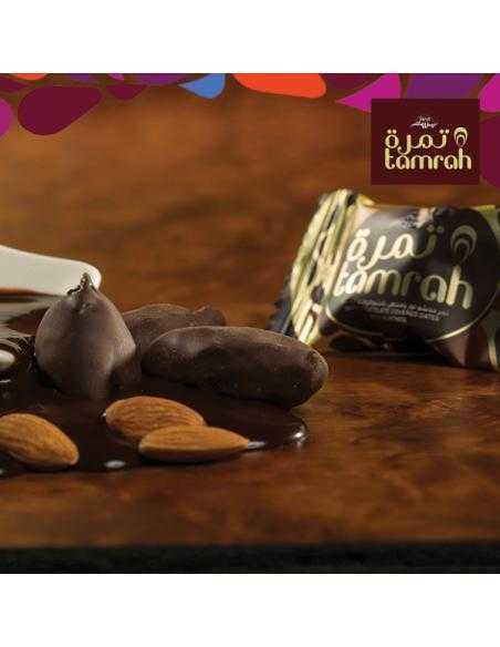 Dattes aux amandes enrobées de Chocolat Noir - Tamrah ®