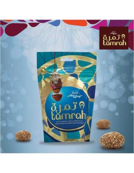 Tamrah - Dattes aux amandes enrobées de Chocolat coco -Tamrah