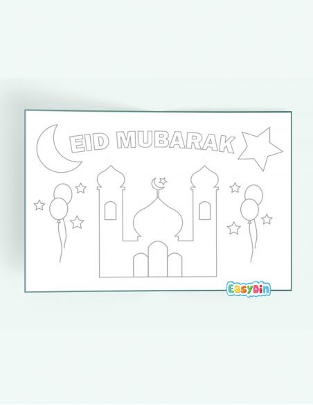 Set de table Eid Mubarak coloriage