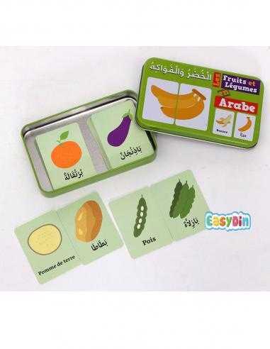 """Ma boîte puzzle duo """"Fruits et Légumes"""" Arabe/Français"""