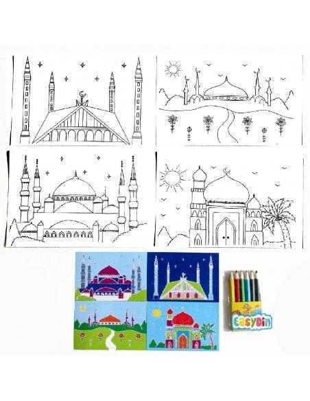 Kit de coloriage Mosquées