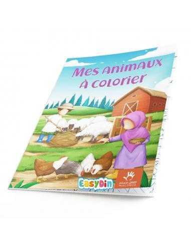 Mes animaux à colorier - muslim kid