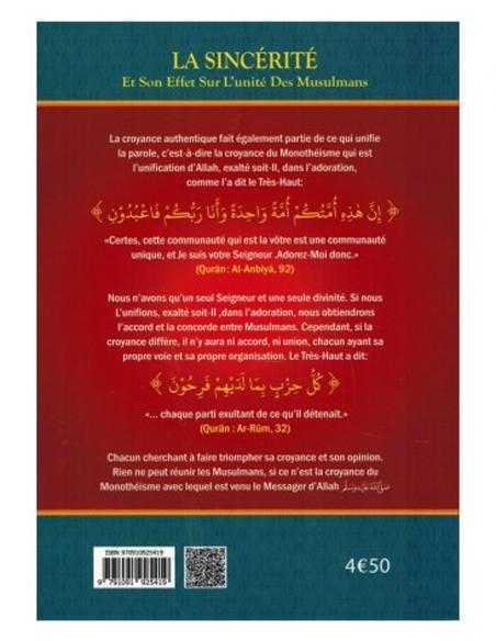 La Sincérité Et Son Effet Sur L'Unicité Des Musulmans