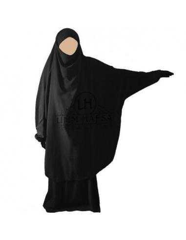 Jilbab 2 pieces Classique - Noir -  Umm Hafsa -