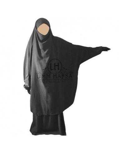 Jilbab 2 pieces Classique - Gris - Umm Hafsa -