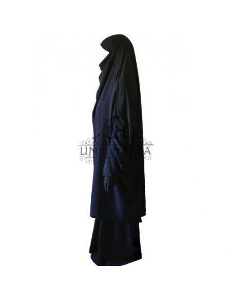Jilbab umm hafsa - bleu