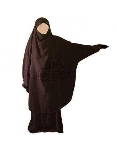 Jilbab 2 pièces Classique - Marron - Umm Hafsa -
