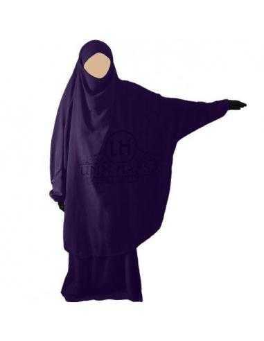 Jilbab 2 pièces Classique - Aubergine - Umm Hafsa -