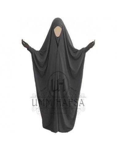 Jilbab Sadoudien à Clips - Umm Hafsa - Gris