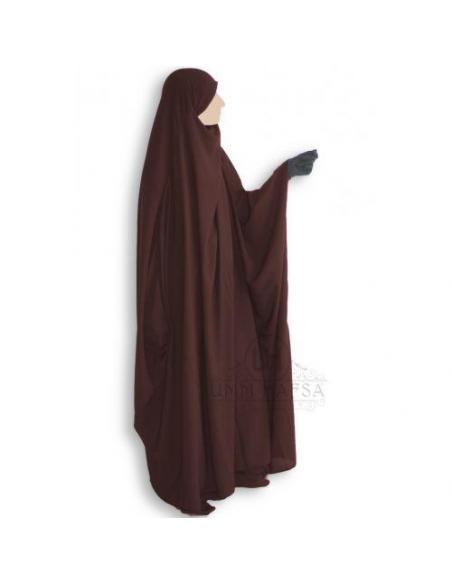 Jilbab Saoudien classique MARRON