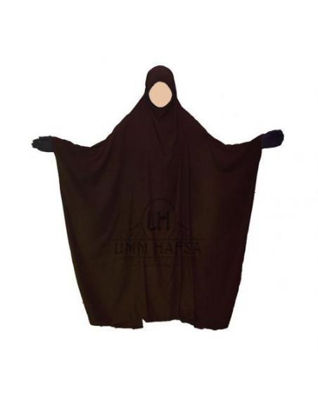 Jilbab Saoudien classique MARRON - Umm Hafsa
