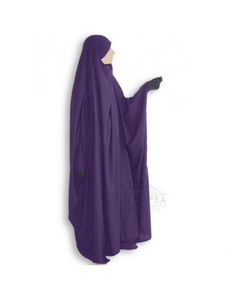 Jilbab Saoudien classique AUBERGINE - Umm Hafsa