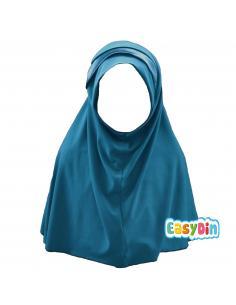Hijab Enfant bleu canard