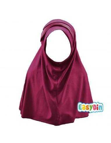 Hijab Enfant rouge bordeau