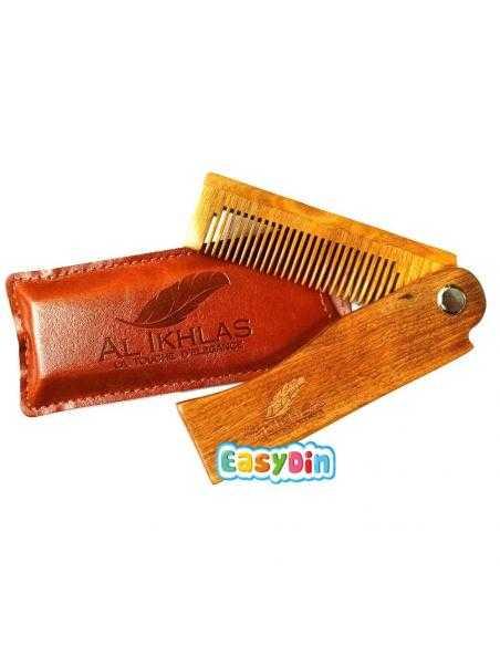 Peigne à barbe pliable en bois - Al Ikhlas