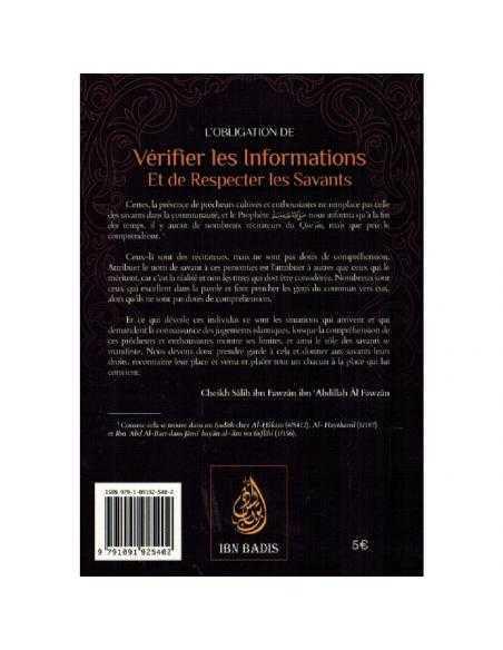 L'obligation De Vérifier Les Informations Et De Respecter Les Savants - Ibn Badis