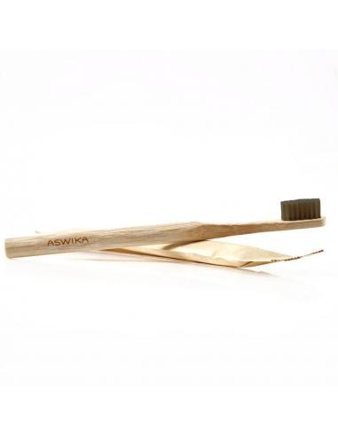 Brosse à dents en Bambou infusé au charbon - ASWIKA