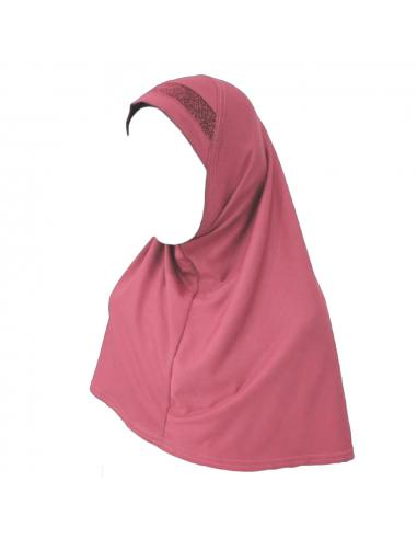 Hijab Enfant rose saumon