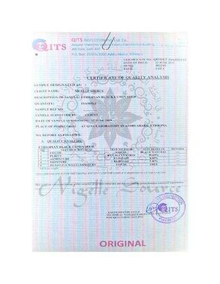 certificat huile nigelle habachiya