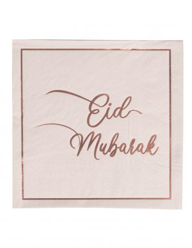 Serviette Eid Moubarak Rose Gold