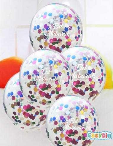 Ballons Confettis Eid Mubarak...